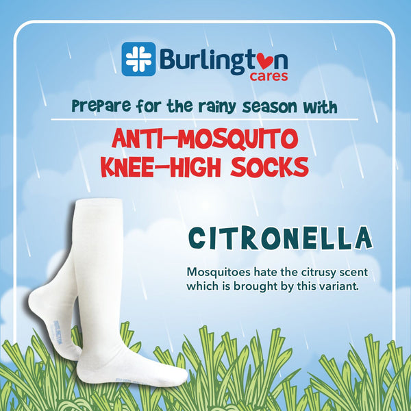Burlington BBHKG2 Childrens Anti Mosquito Knee High Socks 3-in-1 Pack
