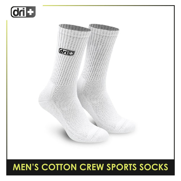 Dri Plus DMS0401 Men's Thick Cotton Crew Sports Socks 1 pair