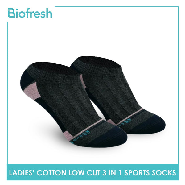 Biofresh RLCKG34 Ladies Cotton Low Cut Casual Socks 3 pairs in a pack