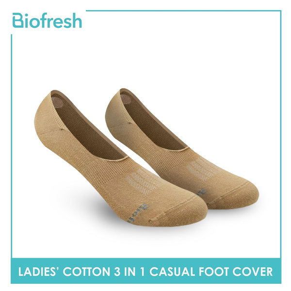 Biofresh RLFCG2 Ladies Cotton No Show Casual Socks 3 pairs in a pack