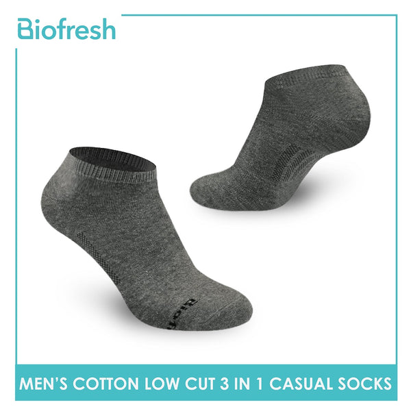 Biofresh RMCKG12 Men's Low Cut Casual Socks 3 pairs in a pack