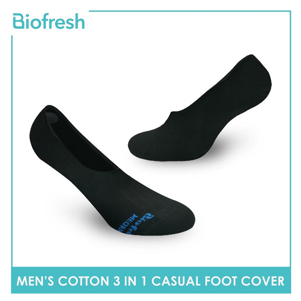 Biofresh RMFCG2 Men's Cotton No Show Casual Socks 3 pairs in a pack