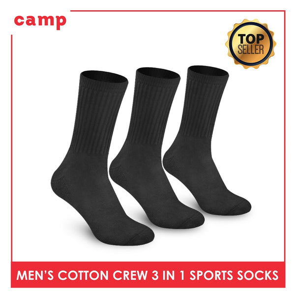 Camp CMS3 Men's Thick Cotton Crew Sports Socks 3 pairs in a pack