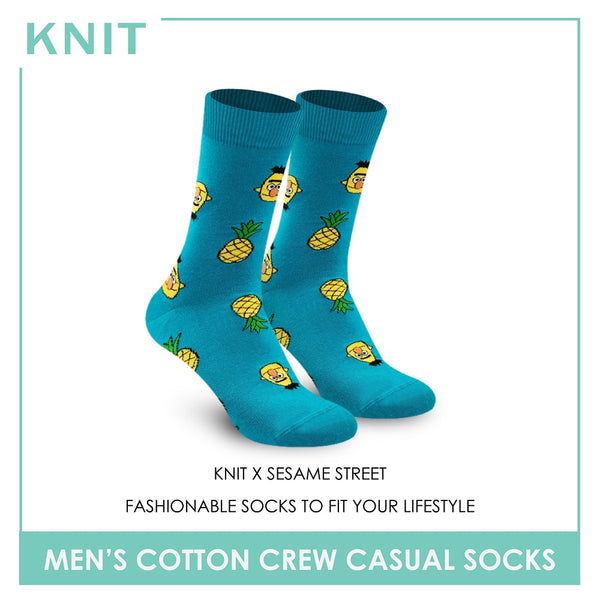 Knit KMSS9203 Men's Cotton Crew Casual Socks 1 pc