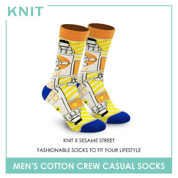 Knit KMSS9210 Men's Cotton Crew Casual Socks 1 pc