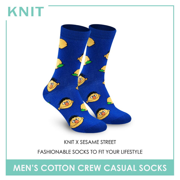 Knit KMSS9211 Men's Cotton Crew Casual Socks 1 pc