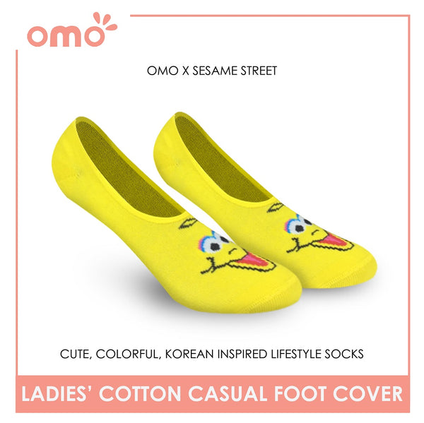 OMO OLCSSF9403 Ladies Cotton No Show Casual Socks 1 Pair