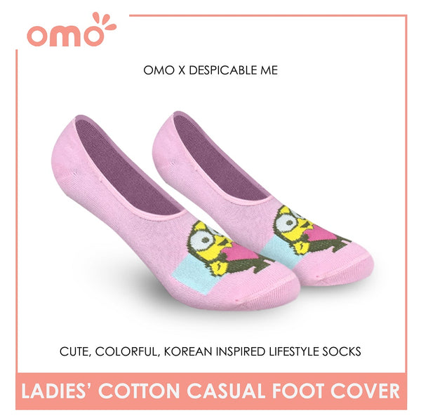 OMO OLCDMF9404 Ladies Cotton No Show Casual Socks 1 Pair