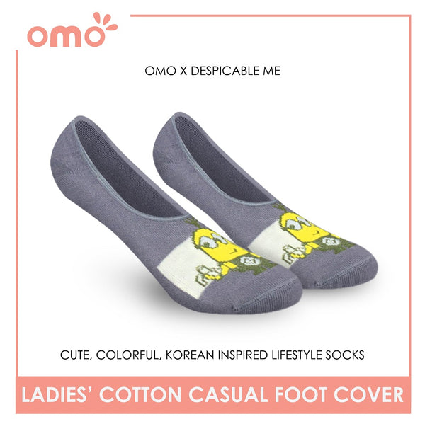 OMO OLCDMF9405 Ladies Cotton No Show Casual Socks 1 Pair