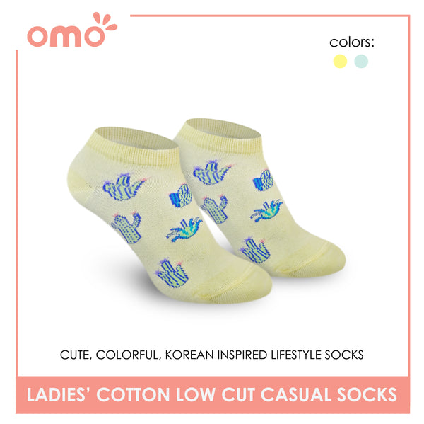 OMO OLCK9203 Ladies Cotton Low Cut Casual Socks 1 Pair
