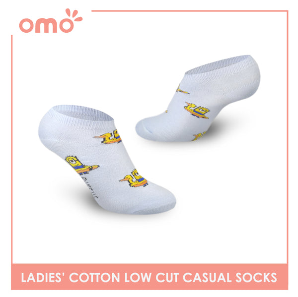 OMO OLCDM9407 Ladies Cotton Low Cut Casual Socks 1 Pair