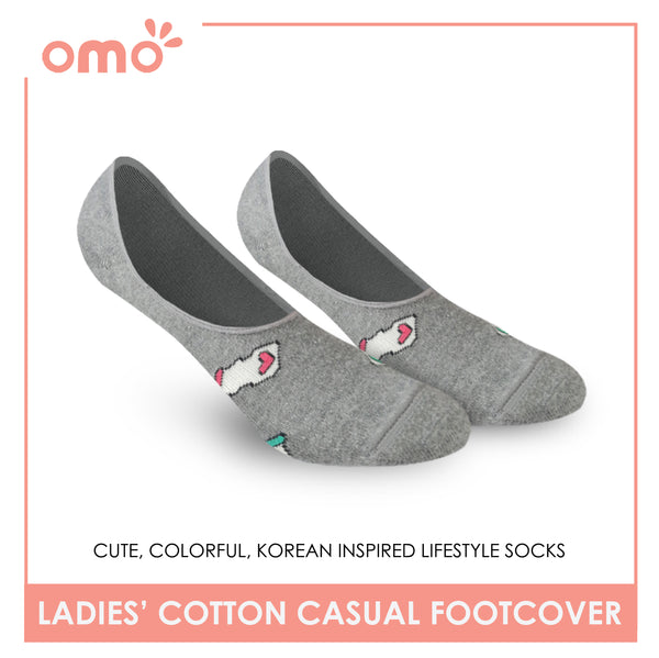 OMO OLCF1803 Ladies Cotton No Show Casual Socks 1 Pair