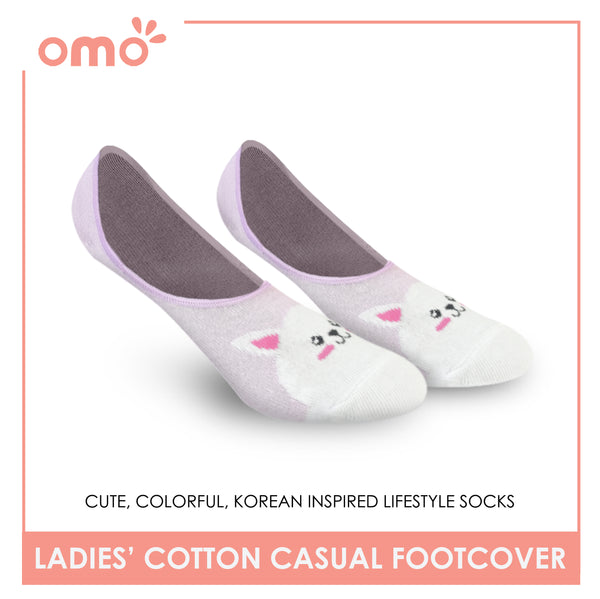 OMO OLCF1 Ladies Cotton No Show Casual Socks 1 Pair