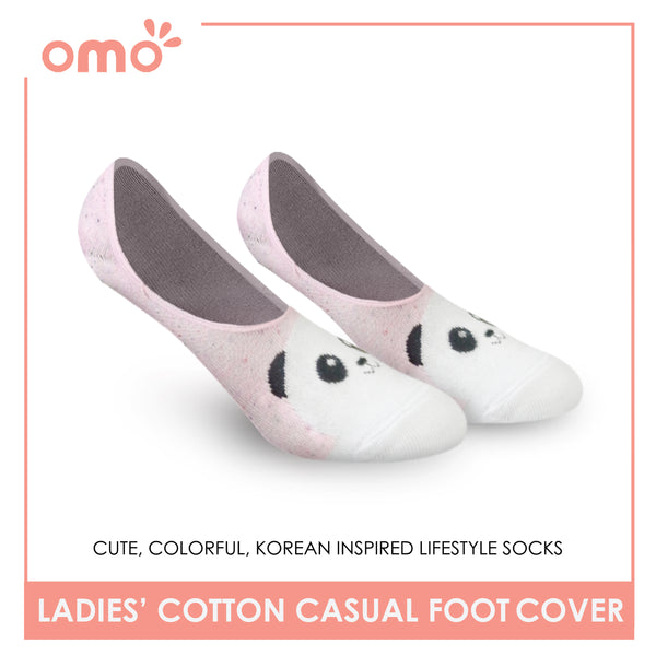OMO OLCF3 Ladies Cotton No Show Casual Socks 1 Pair