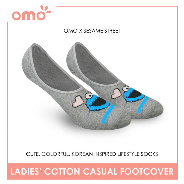 OMO OLCSSF9404 Ladies Cotton No Show Casual Socks 1 Pair