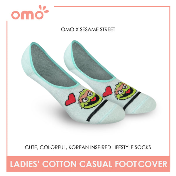 OMO OLCSSF9406 Ladies Cotton No Show Casual Socks 1 Pair