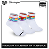 Burlington SFBMCEG1105 Mens' Cotton Lite Casual Ankle socks X Secret Fresh Pack of 3