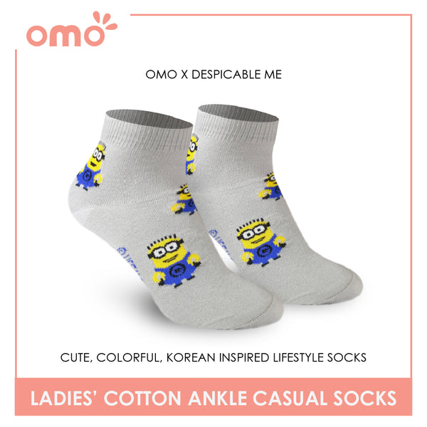 OMO OLCDM9401 Ladies Cotton Ankle Casual Socks 1 Pair