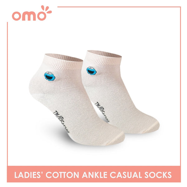 OMO OLCSSE9401 Ladies Cotton Ankle Casual Socks 1 Pair