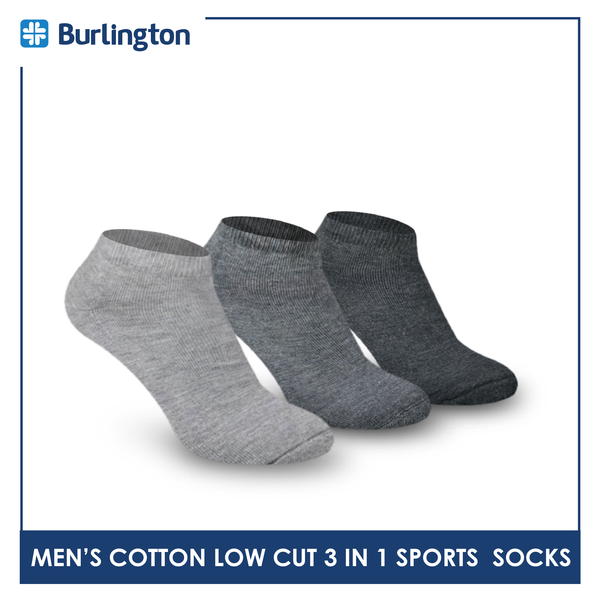 Burlington BML-219 Men's Thick Low Cut Sports Socks 3 pairs in a pack