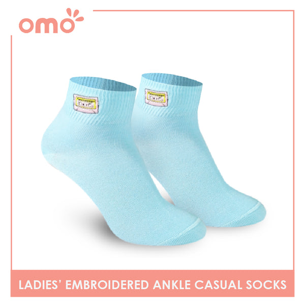 OMO OLCE9208 Ladies Cotton Ankle Casual Socks 1 Pair