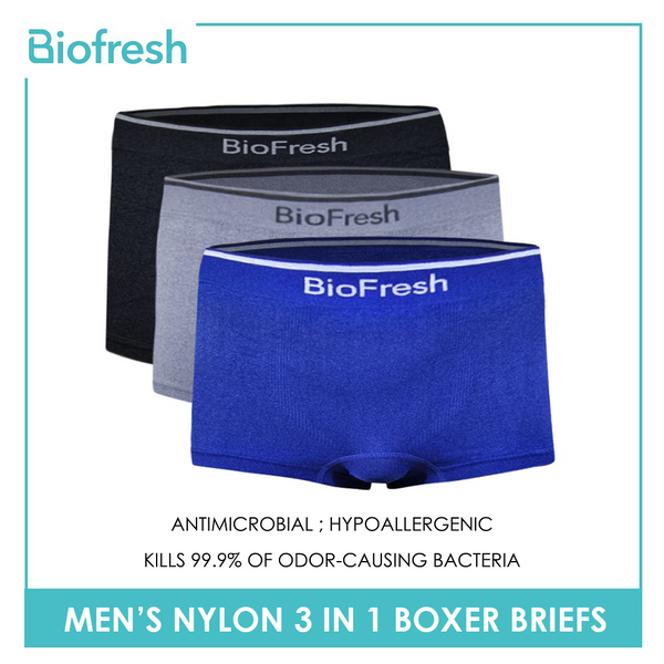 Biofresh UMBBG6 Men's Nylon Boxer Brief 3 pieces in a pack