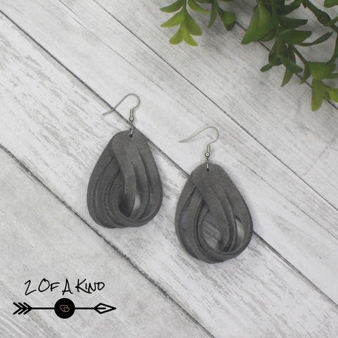 twisted loop leather earrings