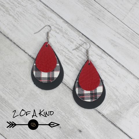 holiday leather earrings