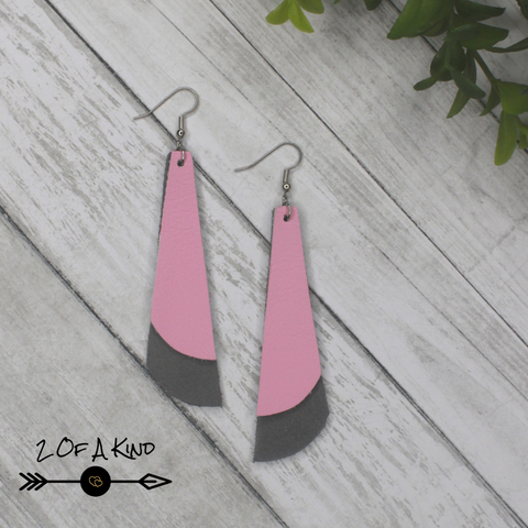 bell leather earrings