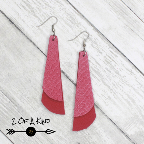 valentines leather earrings