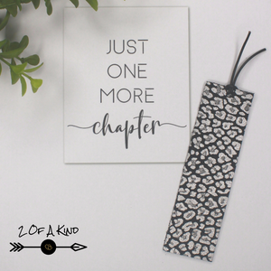 Silver Animal Print Bookmark