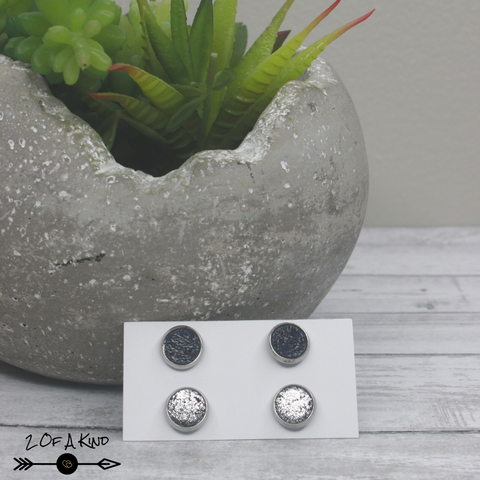 stud leather earrings