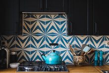 Load image into Gallery viewer, blue-white cement tile-kitchen backsplash