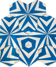 Load image into Gallery viewer, Chevron Hex (Cement Tile) - blue floor tile-bathroom tiles Maria Starling Design