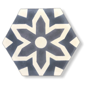 Grey tile- hex cement floor tile