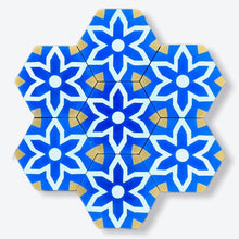 Load image into Gallery viewer, cement floor tile-blue hex bathroom tile-cement tile uk