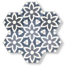 Load image into Gallery viewer, Fleur cement tile- kitchen tiles- floor tiles uk