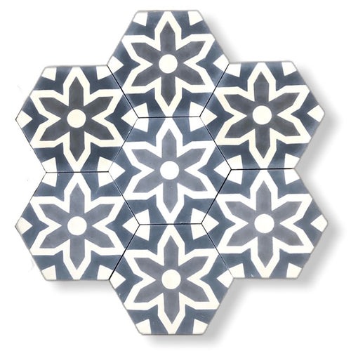 Fleur cement tile- kitchen tiles- floor tiles uk