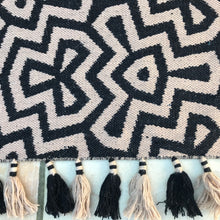 Load image into Gallery viewer, kilim rugs, geometric rugs, area rugs uk, black and white rugs, wool rugs, flat weave rugs