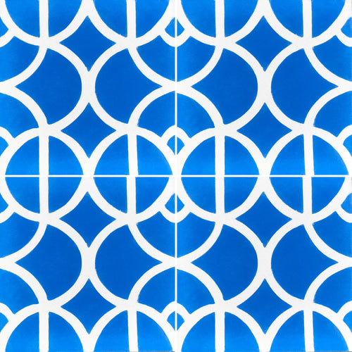 blue and white tile-floor tile-moroccan cement tiles uk - bathroom tiles-  moroccan cement tiles uk