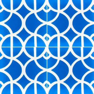 Lotus (cement tile)blue/white