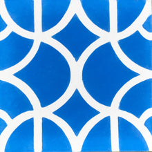 Load image into Gallery viewer, Lotus (cement tile)blue/white
