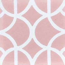 Load image into Gallery viewer, Lotus (Cement Floor Tile)pink and white tile-floor tile-moroccan floor tile- Maria Starling Design