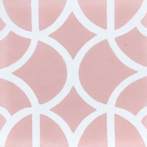 Lotus (Cement Floor Tile)pink and white tile-floor tile-moroccan floor tile- Maria Starling Design