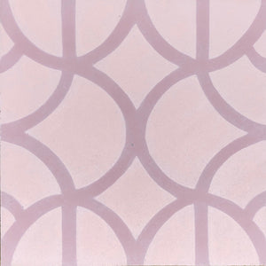 Lotus (Cement Floor Tile) pink tile-floor tile-moroccan floor tile- Maria Starling Design