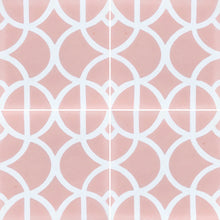 Load image into Gallery viewer, Lotus (Cement Floor Tile) pink and white tile-floor tile-moroccan floor tile- Maria Starling Design
