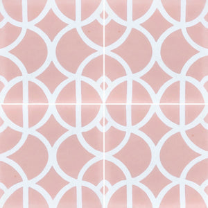 Lotus (Cement Floor Tile) pink and white tile-floor tile-moroccan floor tile- Maria Starling Design