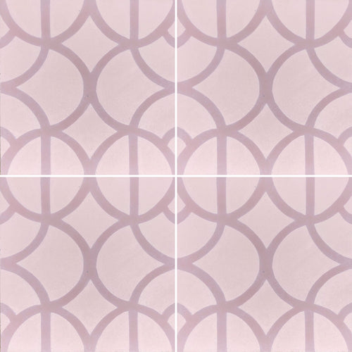 Lotus (cement tile)pink/mauve
