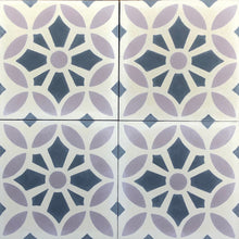 Load image into Gallery viewer, Cement bathroom floor tiles- mauve-grey--wall tiles-encaustic cement bathroom tiles uk.