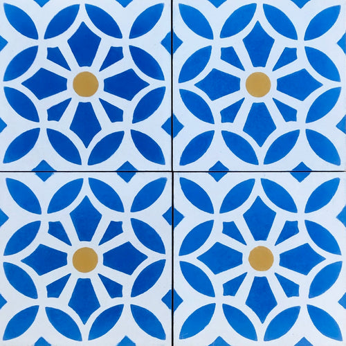 Cement bathroom floor tiles- blue /white wall tiles-encaustic cement bathroom tiles uk.